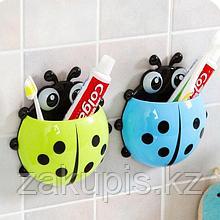 Стакан - подставка для зубных щёток «Божья коровка» на присосках