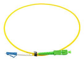 Оптический патч-корд SC/LC APC/UPC 3 метра желтый