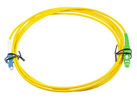 Оптический патч-корд SC/LC APC/UPC 10 метров желтый