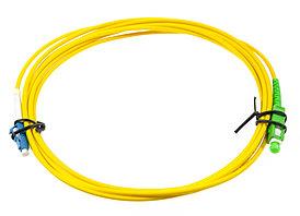 Оптический патч-корд SC/LC APC/UPC 15 метров желтый