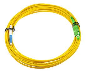 Оптический патч-корд SC/LC APC/UPC 20 метров желтый