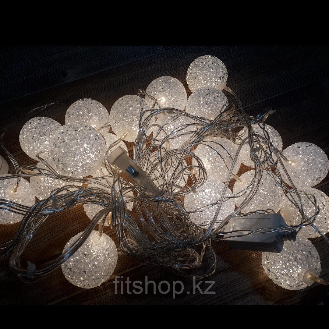 """Гирлянда  """"Снежный  шар """" 5 метров"""
