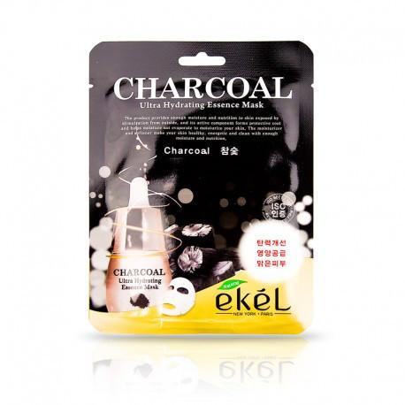 Ekel Charcoal  Mask Тканевая маска с древесным углем для жирной и комбинированной кожи