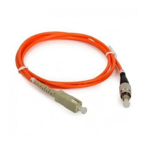 Оптический патч-корд SC/FC UPC OM1 5 метров оранжевый