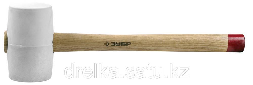 """Киянка ЗУБР """"МАСТЕР"""" резиновая белая, с деревянной рукояткой, 0,45кг"""