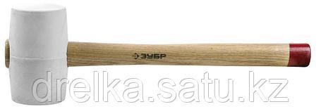 """Киянка ЗУБР """"МАСТЕР"""" резиновая белая, с деревянной рукояткой, 0,45кг, фото 2"""