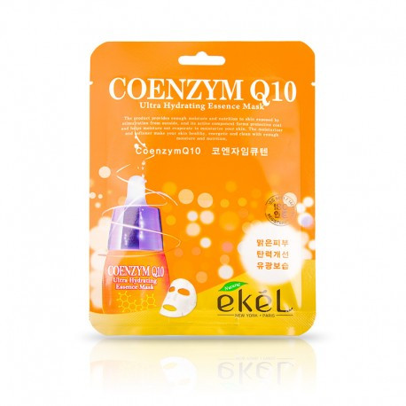 Ekel Coenzym Q10 Ultra Hydrating Essense Mask Антивозрастная тканевая маска с коэнзим