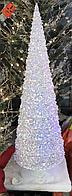 Конусная светящаяся елка белая