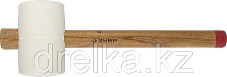"""Киянка ЗУБР """"МАСТЕР"""" резиновая белая, с деревянной рукояткой, 0,9кг, фото 2"""