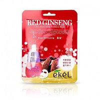 Ekel Red Ginseng Essential Mask Тканевая маска для эластичности кожи с экстрактом красного женьшеня