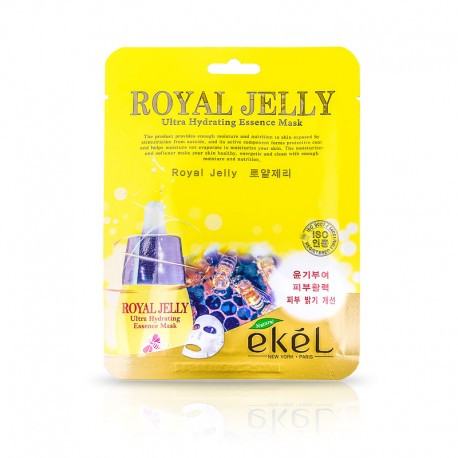 EKEL Royal Jelly Ultra Hydrating Essence Mask  Тканевая маска для жирной и проблемной кожи