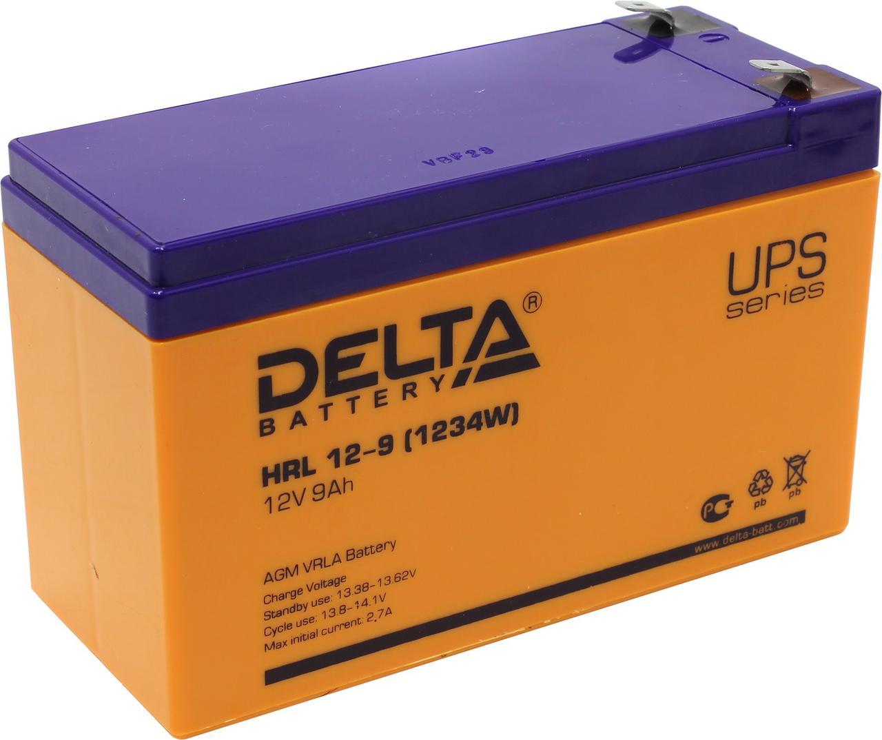 Аккумуляторная батарея Delta HRL 12-9
