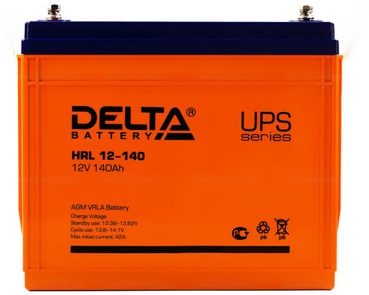 Аккумуляторная батарея Delta HRL 12-140, фото 2