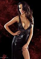 Длинное платье с глубоким декольте и вырезом на спине Jacqueline (Magnetic)-S