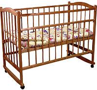 Детская кроватка Фея 204 колесо-качалка орех, фото 1