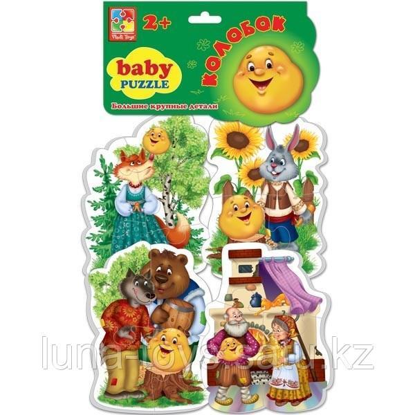 "Мягкие пазлы""  ""Baby puzzle Сказки Колобок"""