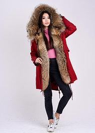 Женские зимние куртки парки с натуральным мехом