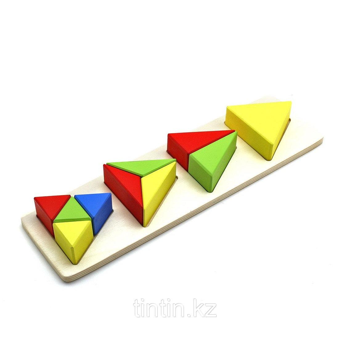 Вкладыши - доли треугольника