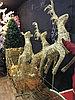 Светящиеся олени с санями большая фигура
