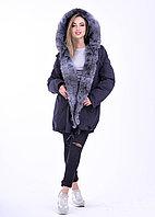 Женская куртка парка с натуральным мехом | интернет магазин BG-Furs