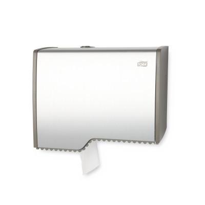 Диспенсер металлический для туалетной бумаги в мини рулонах Tork Aluminium 455000