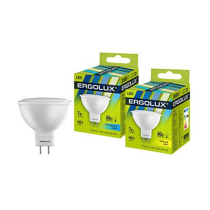 Эл. лампа светодиодная Ergolux JCDR GU5.3/4500K/7Вт, Холодный, фото 2