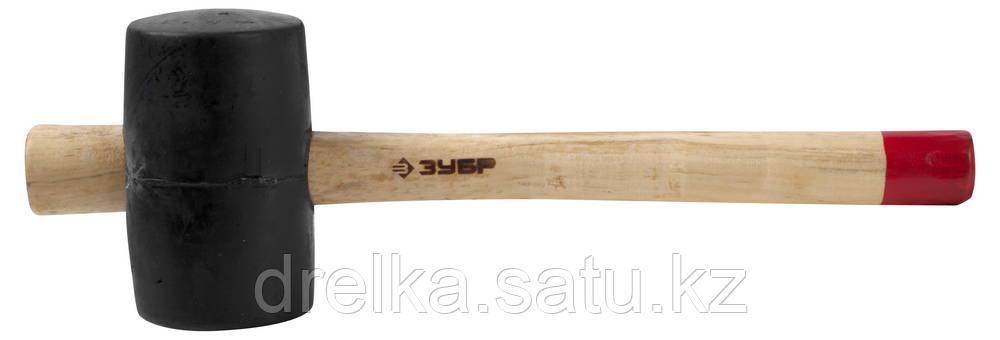 """Киянка ЗУБР """"МАСТЕР"""" резиновая с деревянной ручкой, 0,34кг"""