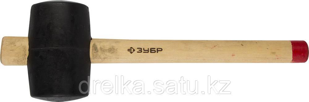 """Киянка ЗУБР """"МАСТЕР"""" резиновая с деревянной ручкой, 0,68кг"""