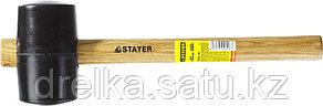 Киянка STAYER резиновая черная с деревянной ручкой, 450г, фото 2