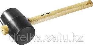 Киянка STAYER резиновая черная с деревянной ручкой, 900г, фото 2
