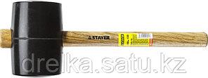 Киянка STAYER резиновая черная с деревянной ручкой, 1130г, фото 2