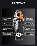 Аккумуляторный шуруповерт (дрель) с магнитом и молотком 12V, фото 6