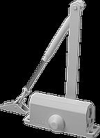 Доводчик дверной Зубр, для дверей массой до 80кг (белый)