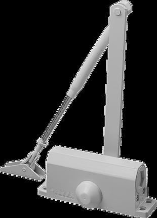 Доводчик дверной Зубр, для дверей массой до 80кг (белый), фото 2