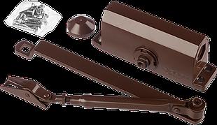 Доводчик дверной ЗУБР, для дверей массой до 40кг (коричневый)