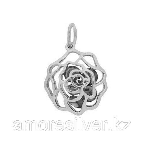Подвеска Приволжский Ювелир серебро с родием, фианит, флора 431977