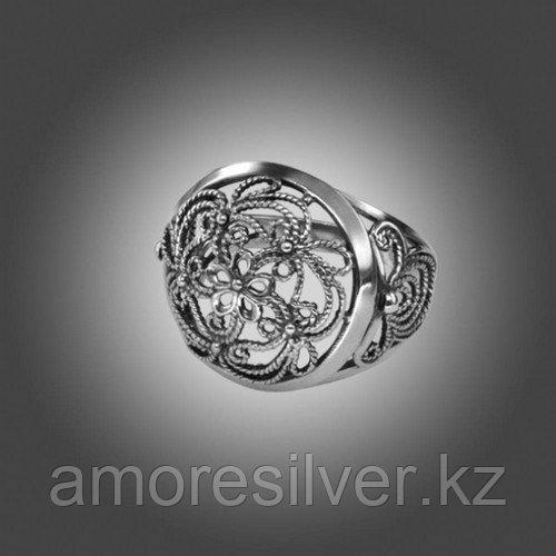 Кольцо Приволжский Ювелир из черненного серебра, ажурное 243608