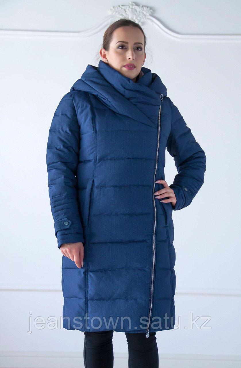 Пуховик женский зимний Snowimage, длинный, синий