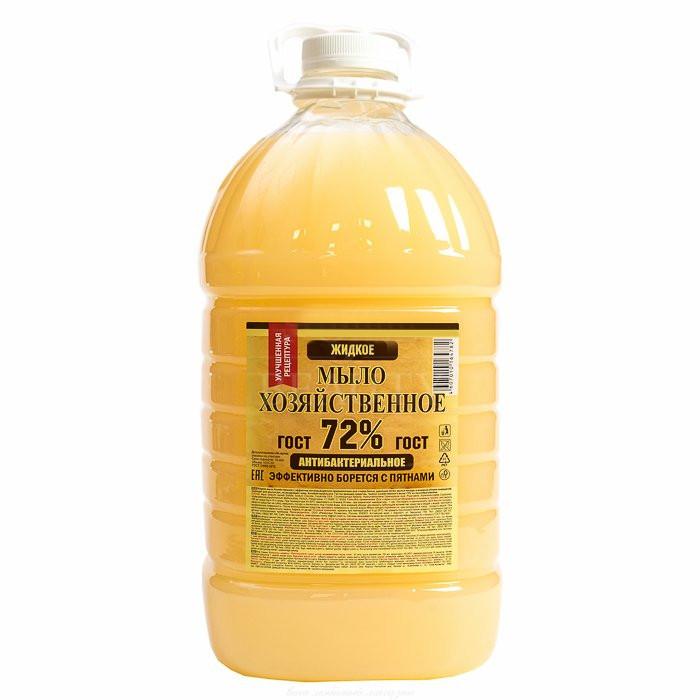 Мыло хозяйственное жидкое 5л 72%