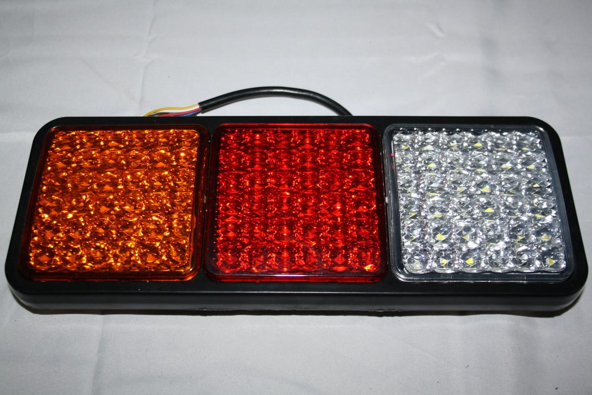 Задний диодный 3-х секционный фонарь 0045 New