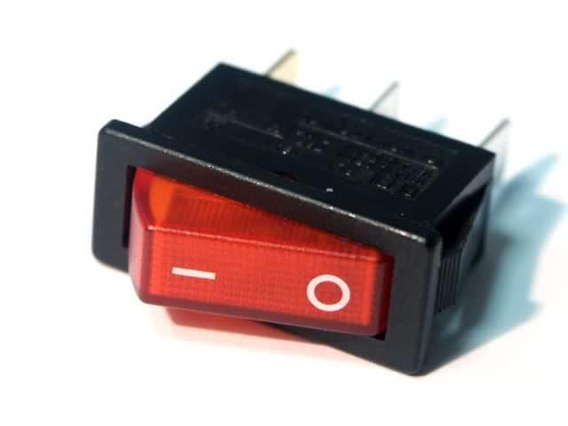 Выключатель клавишный KCD-2011  красный