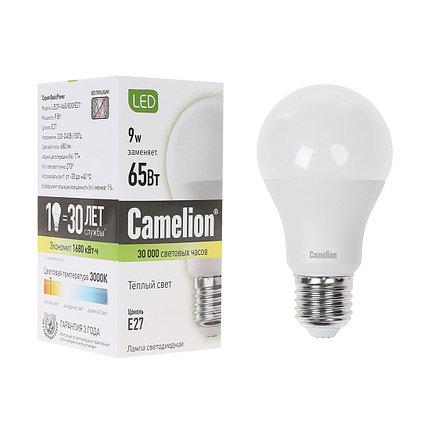 Эл. лампа светодиодная Camelion А60/3000К/E27/9Вт, Тёплый, фото 2