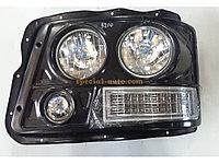 Фара головного света левая (вакуум-фара) металлический корпус SHAANXI F3000