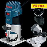 Профессиональный набор: кромочный фрезер Bosch GKF 600 + набор принадлежностей в чехле Professional