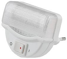 Светильник-ночник, линейная люминесцентная лампа, с выключателем, 1W, цветовая температура 2700 К, СВЕТОЗАР, S