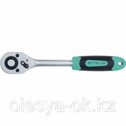 Ключ-трещотка 1/4, 72 зуба, STELS, фото 2
