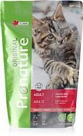 Pronature Original NEW Сухой корм для кошек на основе мяса курицы и ягненка 340 гр