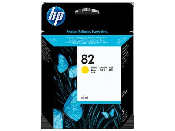 Картридж струйный HP Yellow Ink  №82 (C4913A)
