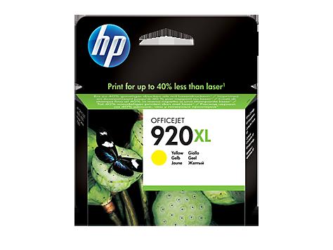 Картридж струйный HP Yellow Ink  №920XL  (CD974AE)