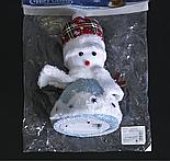 "Игрушка световая ""Праздничный снеговик"" (батарейки не комплекте) 15х20 см, 1 LED RGB, СИНИЙ, фото 2"